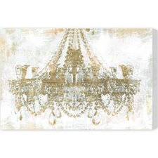 Oliver Gal Gold Diamonds Graphic Art on Canvas
