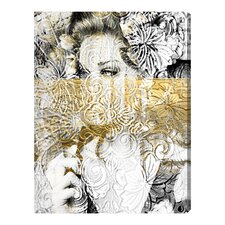 Oliver Gal Bloom Graphic Art on Wrapped Canvas