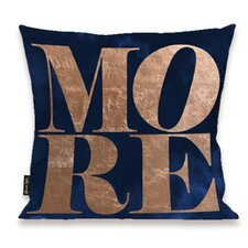 Oliver Gal Home Solid More Copper Throw Pillow