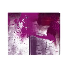 Artana Violet Substance Painting Print on Wrapped Canvas