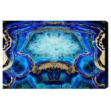 'Geode Bleu' by Artana Painting Print on Wrapped Canvas