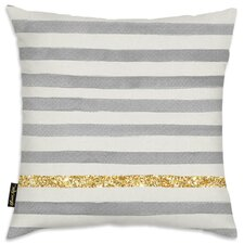 Gold Line Stripes Pillow