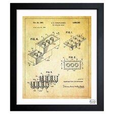 Lego Toy Building Brick 1961 Framed Graphic Art