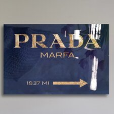 Oliver Gal Marfa Navy Textual High Gloss Canvas Art