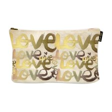 """9"""" H x 13"""" W Four Letter Word Jewelry Pouch"""