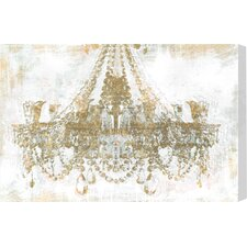 Gold Diamonds Faded Graphic Art on Canvas