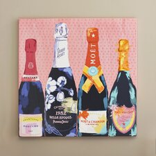 Pass the Bottle! Graphic Art on Wrapped Canvas