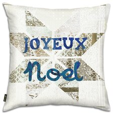 Holiday 'Star Noel Blue' Throw Pillow