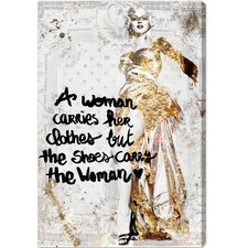 The Shoe Carries The Woman Graphic Art on Canvas