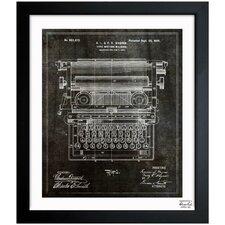 Type Writing Machine 1899 Framed Graphic Art