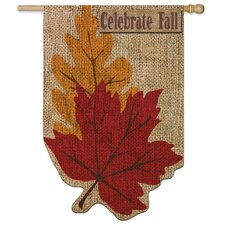 Welcome Fall Leaves Vertical Flag