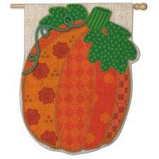 Patchwork Pumpkin Vertical Flag