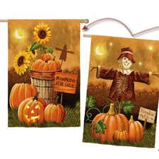 Pumpkin Patch for Sale Vertical Flag