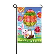 Easter Bunny Balloon Garden Flag