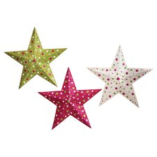 Ditsy Dots Shimmer and Shine Star Wall Décor (Set of 3)