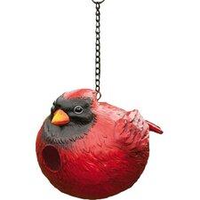Portly Cardinal Hanging Birdhouse