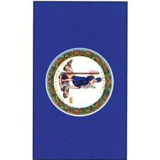 Print Virginia State Applique 2-Sided Garden Flag