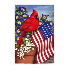 Cardinal Glory Vertical Flag