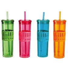 Cup with Silicone Center (Set of 4)