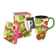Botanica 17 oz. Boxed Ceramic Latte Travel Cup