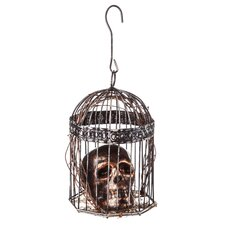 Birdcage and Skull Decor