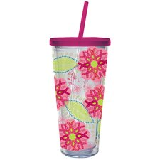 Ribbons of Courage 20 oz. Insulated Cup with Straw