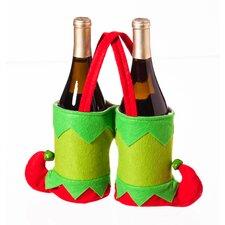 Double Elf Boot Novelty Plush Wine Bag