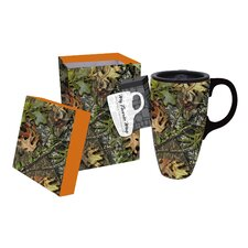 Mossy Oak 17 Oz. Ceramic Latte Travel Coffee Cup with Gift Box