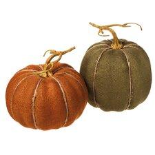 2 Piece Medium Linen Pumpkin Set (Set of 2)