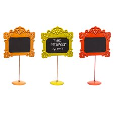 Harvest Metal Chalkboard Sign (Set of 3)