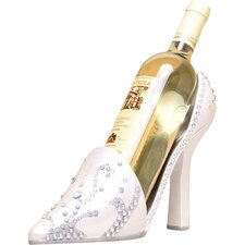 Wedding High Heel Shoe 1 Bottle Tabletop Wine Rack