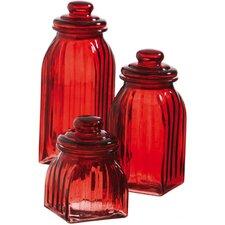 3-Piece Glass Jar Set (Set of 3)