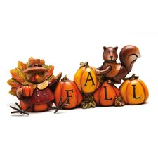 Autumn Inspiration Turkey and Squirrel Table Decor