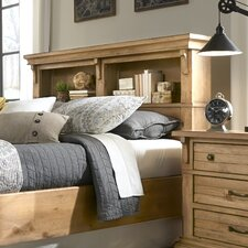 Chestnut Hill Wood Bookcase Headboard