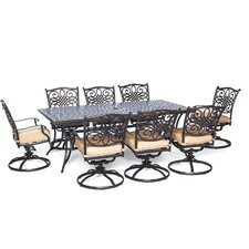 Traditions 9 Piece Dining Set with Cushion