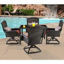 Strathmere 5 Piece Swivel Dining Set with Cushions