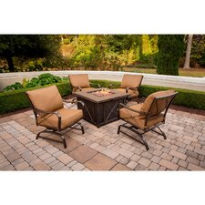 Summer Night 5 Piece Fire Pit Seating Group with Cushions