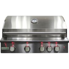 "40"" 5-Burner Built-In Grill with Rear Infrared Burner"