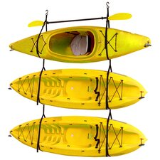 Kayak / Canoe Storage and Portage Hang 3 Deluxe Strap Storage System