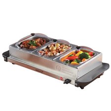 Triple Buffet Server with Warming Tray