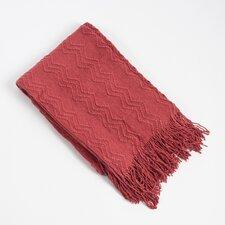 Knitted Zigzag Design Throw Blanket