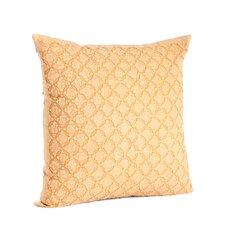 Nirali Appliqué Sheeting Cotton Throw Pillow