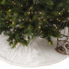 Faux Fur Design White Holiday Christmas Tree Skirt