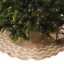 Beaded Burlap Christmas Tree Skirt