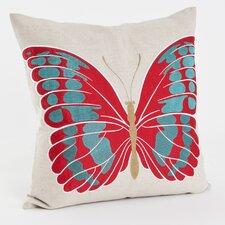 Embroidered and Appliqué Throw Pillow