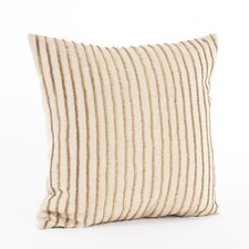 Gold Beaded Cotton Throw Pillow