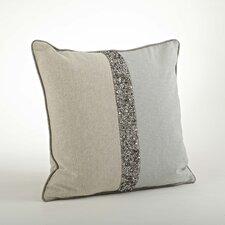 The Posh 2 Tone Beaded Cotton Throw Pillow