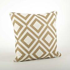 Olympia Printed Diamond Cotton Throw Pillow