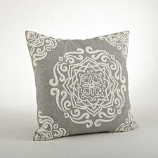 Carmen Embroidered Cotton Throw Pillow