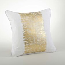 Agatha Metallic Banded Cotton Throw Pillow